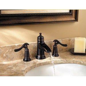Pfister Ashfield Waterfall Widespread Bathroom Sink Faucet in Tuscan Bronze
