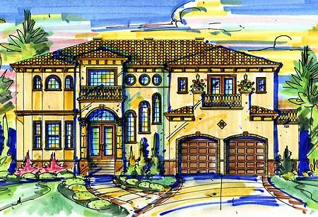 - 42806MJ   2nd Floor Master Suite, Butler Walk-in Pantry, CAD Available, Den-Office-Library-Study, Loft, Media-Game-Home Theater, Mediterranean, PDF, Spanish   Architectural Designs