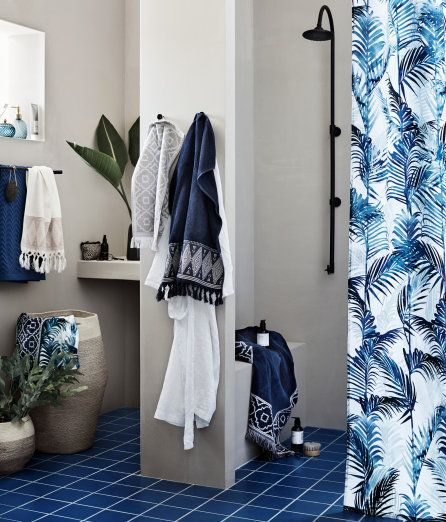 Check this out! Shower curtain in water-repellent polyester with a printed pattern. Metal grommets at top. Shower curtain rings sold separately. - Visit hm.com to see more.
