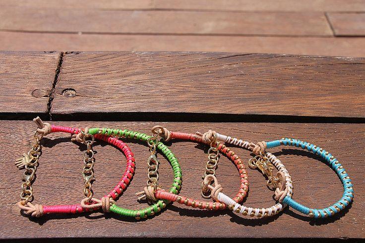 Leather multicolour bracelets  https://www.facebook.com/LOTUSbyM