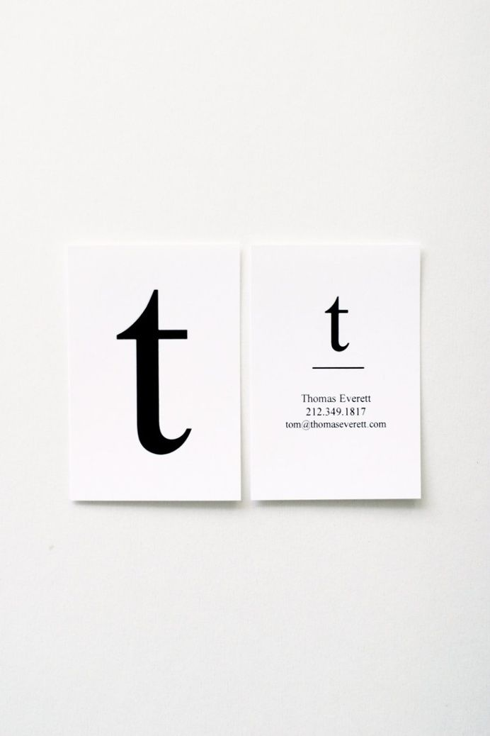 Thomas Letterpress Business Card in Business cards