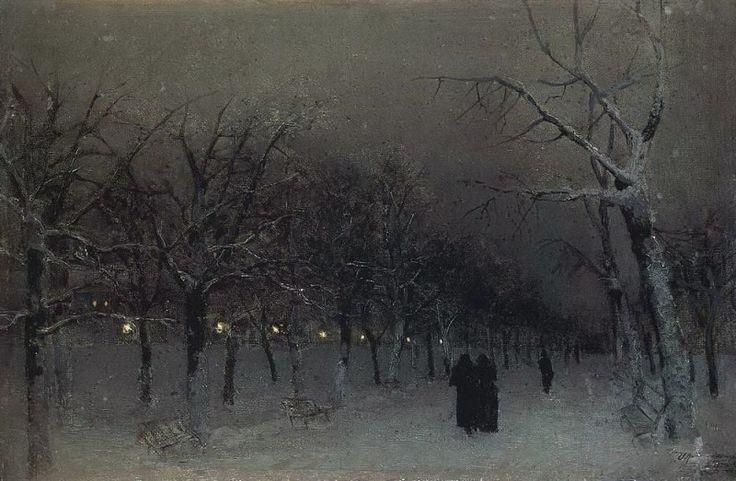 Бульвар зимой. 1883. Исаак Ильич Левитан