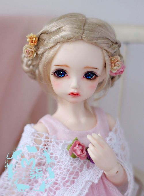 【M7】MO Hair Blonde Updo Buns Wig BJD MSD 1 4 Size Doll Use | eBay