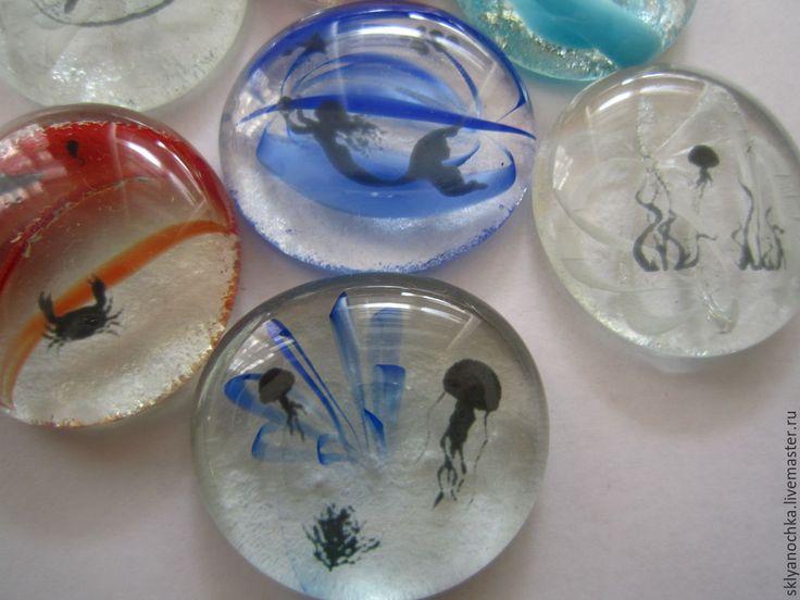 """Купить Стеклянные камушки """"Морские"""" - разноцветный, стекло, море, русалка, морская тематика, для дома, для интерьера"""