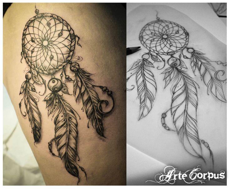 tatouage dreamcatcher arte corpus tattoo addict pinterest. Black Bedroom Furniture Sets. Home Design Ideas