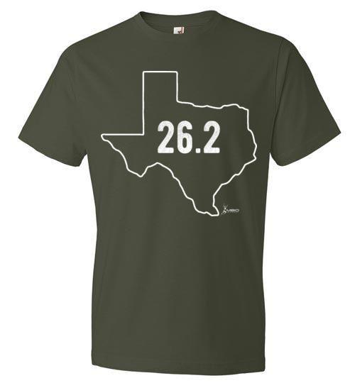 Texas Outline Marathon T-Shirt