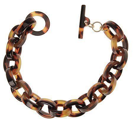 """L. Erickson Bianca Link Bracelet - Tokyo L. Erickson. $42.00. Imported by L. Erickson. Dimensions: 2"""" diameter with 1/2"""" links. Polished to a lustrous sheen. Toggle clasp closure. Durable cellulose acetate"""