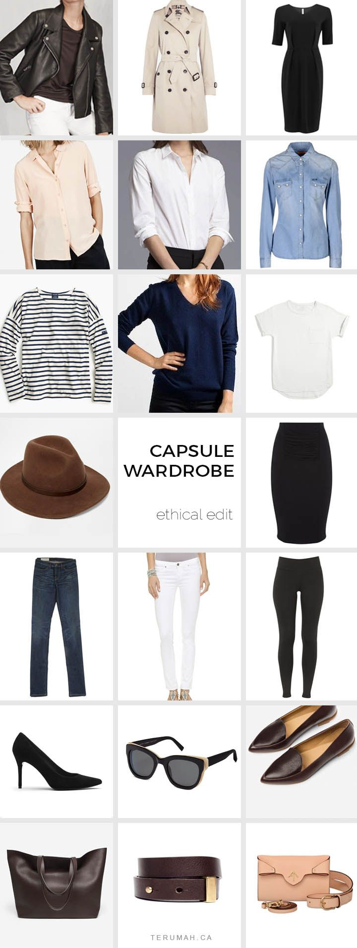 Ethical French Capsule Wardrobe Outfit Ideas