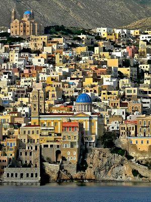 προσεγγίζοντας τη Σύρο - reaching Syros island, Greece