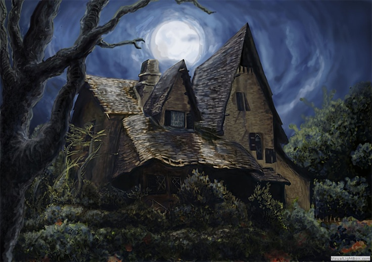 Witches house buildings pinterest for Pinterest haunted house