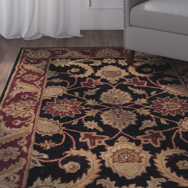 Bromley Black/Burgundy Rug
