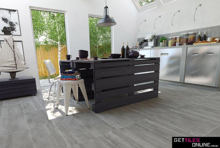 Lio Concrete Grey Matt 300x600 (Code:01099) - Get Tiles Online