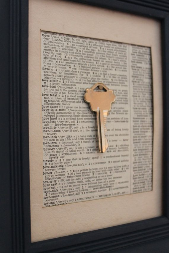 First house key framed art framed dictionary page by BugsNTails