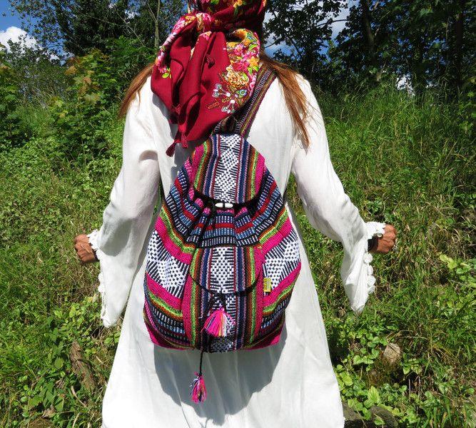 Rucksäcke - *NAVAJO*Festival Rucksack Back Pack Maya gewebt - ein Designerstück von santa-fee bei DaWanda