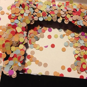 Paper Confetti Picture Frame DIY Craft