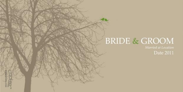 Cartoon - Love Birds Silhouette Cartoon Wedding Koozie