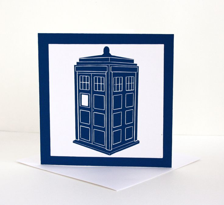 Dr Who Birthday Card. Tardis Print Greetings Card. Blank Linocut Card. Card For Him by TheLinoPrintShop on Etsy
