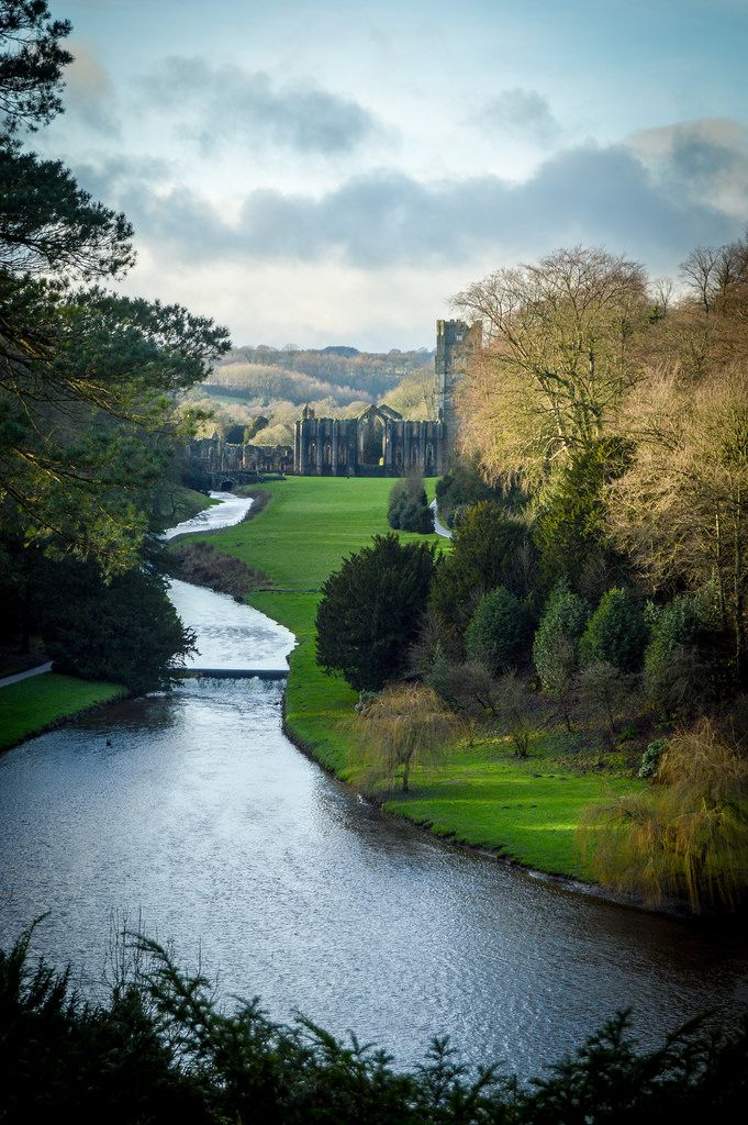 Fountains Abbey, North Yorkshire, England by Martyn Steiner