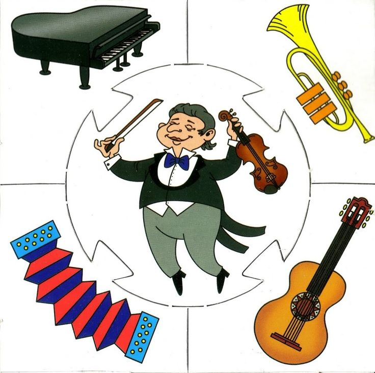 Music puzzle, free printable / muziek puzzel voor kleuters