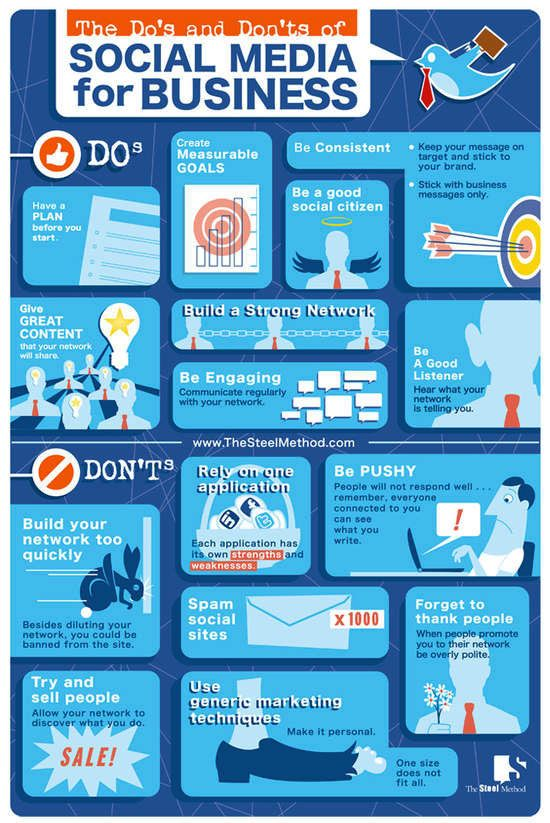 The Do's & Dont's of Social Media for Business - Website Magazine's WebMag.co provides infographics, videos and more for 'Net professionals.