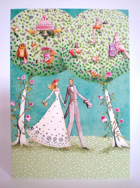 ♥ A wedding card designed by Mila Marquis    ♥
