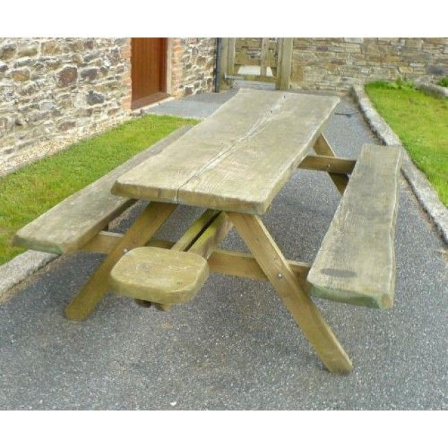 MASSIVE Whole Tree Picnic Bench £570   sustainable-furniture.co.uk