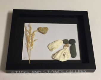 Wedding Gift Pebble Art-Unique Engagement by MedhaRode on Etsy