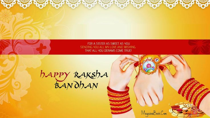 Happy Raksha Bandhan (Rakhi) Quotes With Cards | SMS Wishes Poetry
