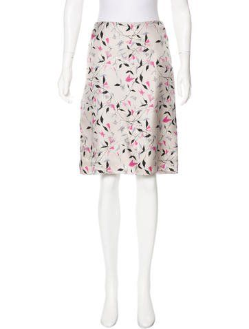 Prada Printed Silk Skirt ($44)