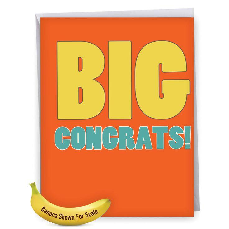 Inside: Big Congratulations, Graduate! ----  Big Congratuations Big Ones Graduation Greeting Card Nobleworks Jumbo Congrats Card.  Read more: http://www.nobleworkscards.com/j2723gdg-big-congratuations-funny-graduation-greeting-card-nobleworks.html#ixzz4gbrKPsCx