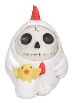 Furry Bones Chicken Figurine Sculpture Figure. #StealStreet. Cute, adorable, pretty, girly, kawaii, skeleton, animal, egg.