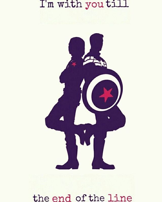 """XD Awww!!! • """"I'm with you till the end of the line."""" #CaptainAmerica #SteveRogers #BuckyBarnes"""