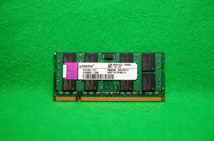 2GB Kingston Notebook RAM KTX760-ELF 200p PC2-6400 CL6 DDR2-800MHz SODIMM 1.8V