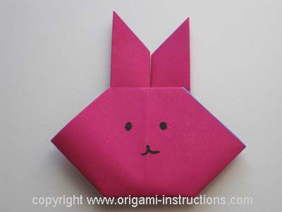 Bunny origami for kids!