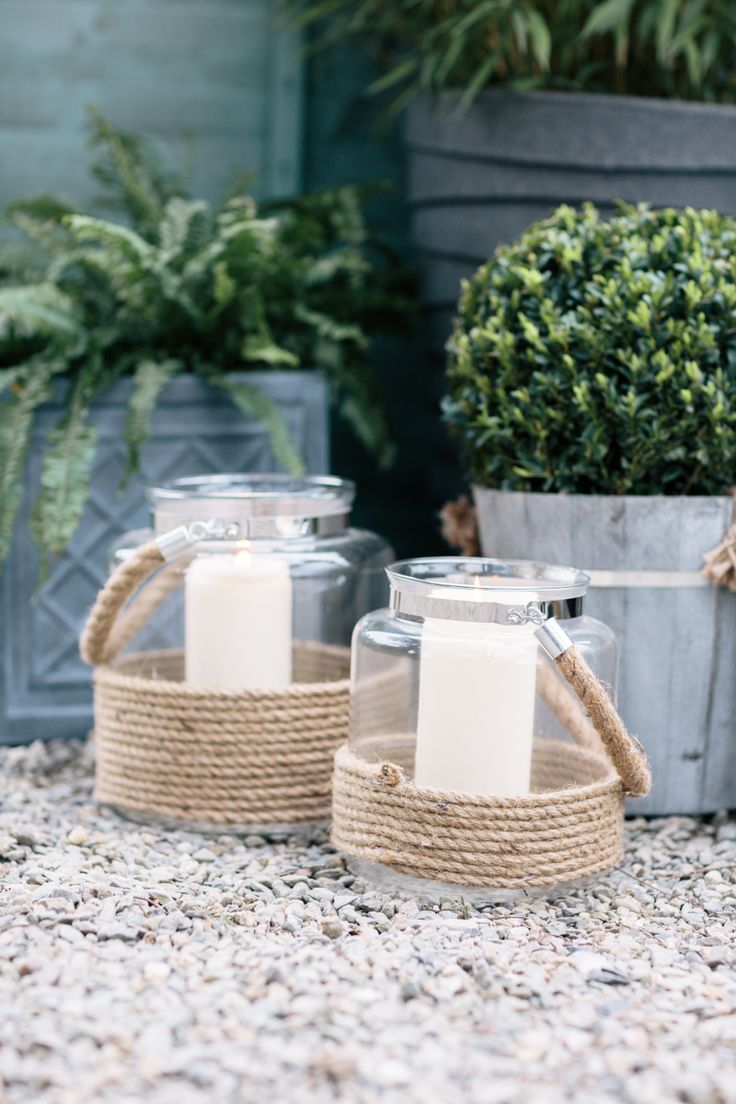 These lovely glass lantern are great outside or inside the house!