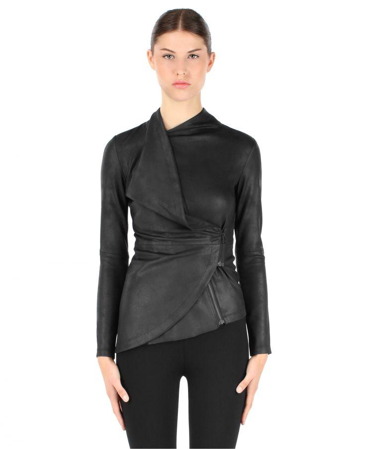 RUDSAK Tops & Vests (BLACK, METALLIC NEOPRENE) | DEVINA