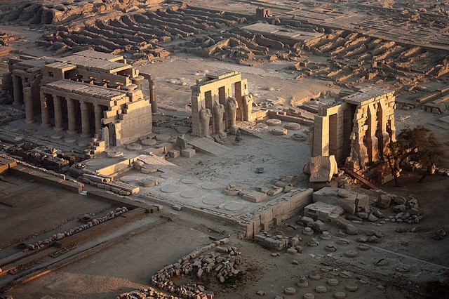 The Ramesseum.  Built by Ramesses the Great.  The Egyptians had strong religious convictions which were reflected in their ancient temples.