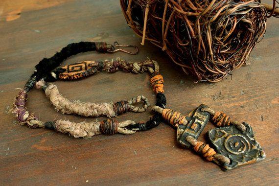 Tribal Jewelry by Etinifni Creations - #Primitive #Handmade #Metalwork #OOAK #Jewelry #Artisan #Macrame #Necklace