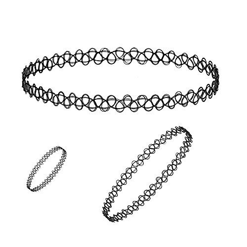 Fake Tattoo Necklace Choker Trendy Costume Fashion Jewelry & Accessories Material:Plastic