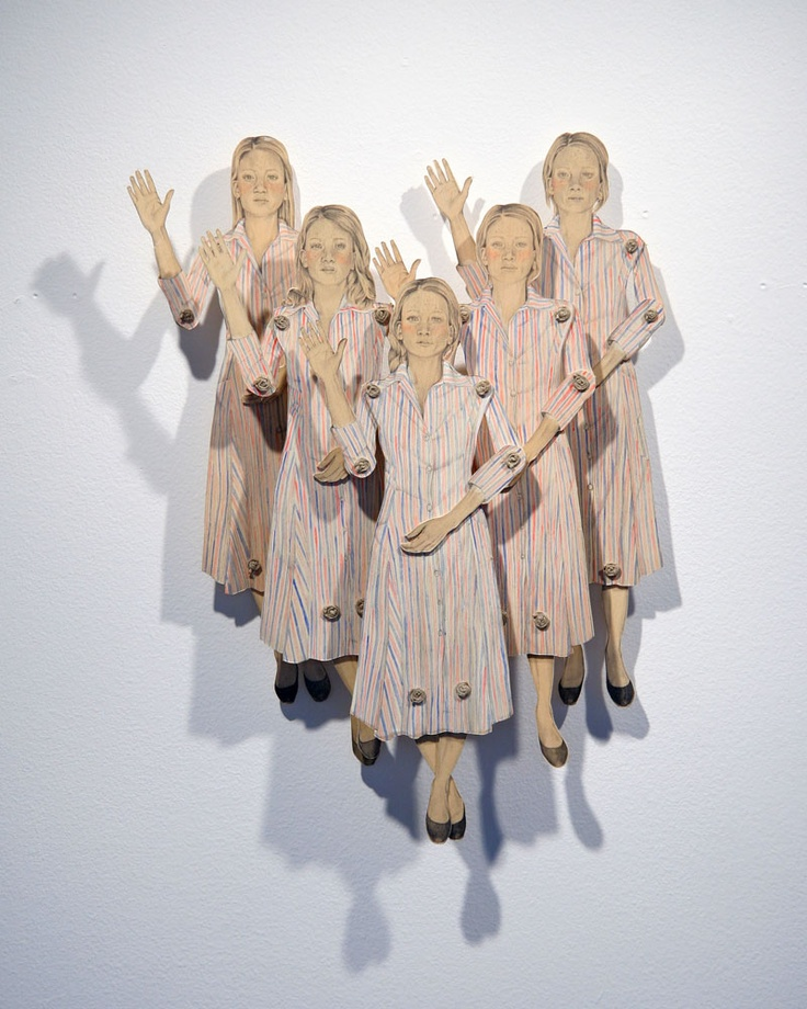 """Pack of Women Saying Hello by Claire Oswalt - 2008 