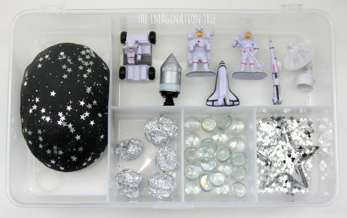 Space galaxy play dough exploration kit
