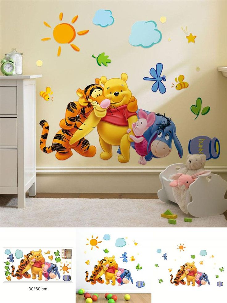 Nice  Visit to Buy Winnie the Pooh friends wall stickers for kids rooms decorative sticker