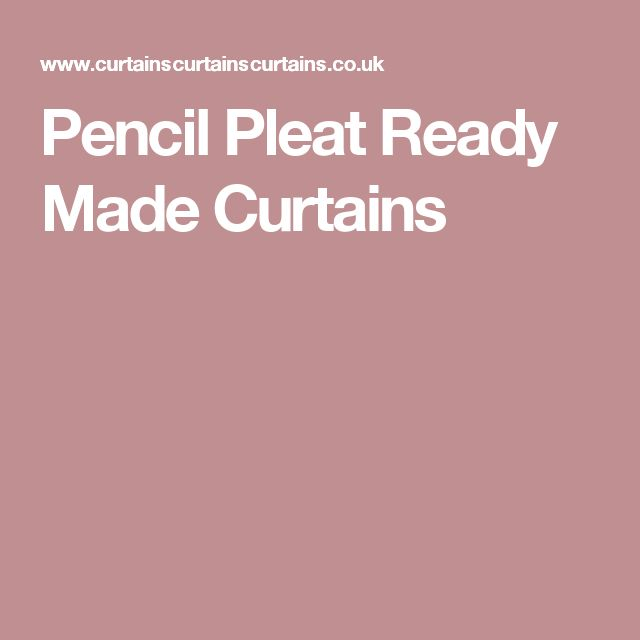 Pencil Pleat Ready Made Curtains