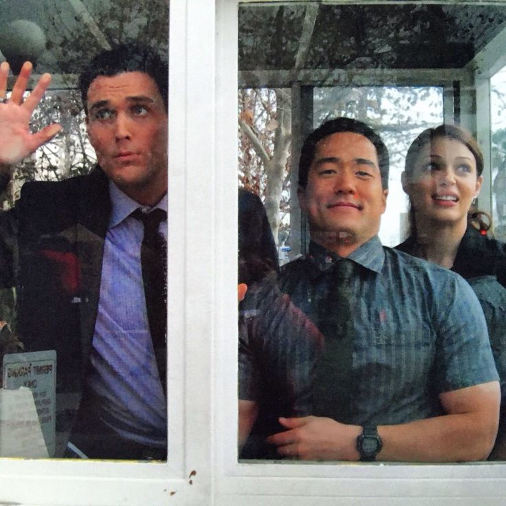 Tim Kang, Owain Yeoman, Amanda Righetti, The Mentalist, Photo-Remember