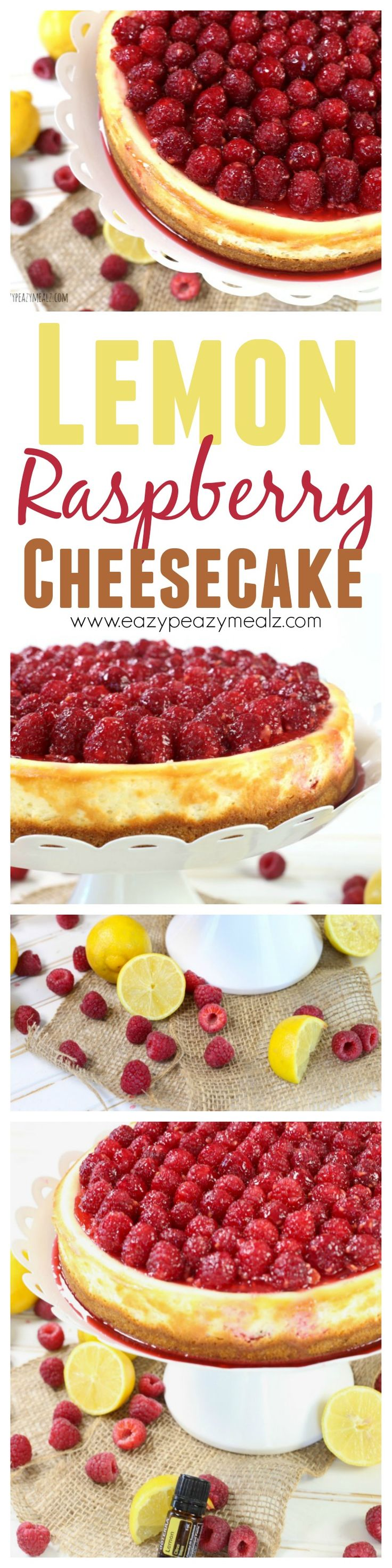 An easy to make lemon raspberry cheesecake. This beautiful dessert is perfect for Spring, make it for Mother's Day! #sp - Eazy Peazy Mealz