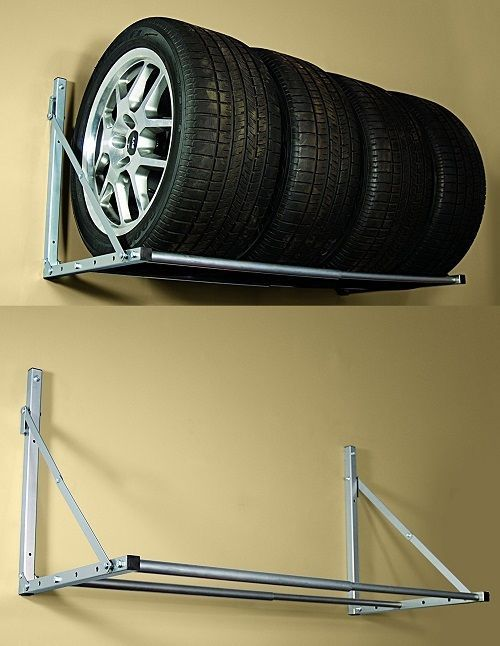 Wall Mount Garage Storage Heavy Duty Rack Tire Holder Wheel Warehouse Organizer #WallMountGarageStorage