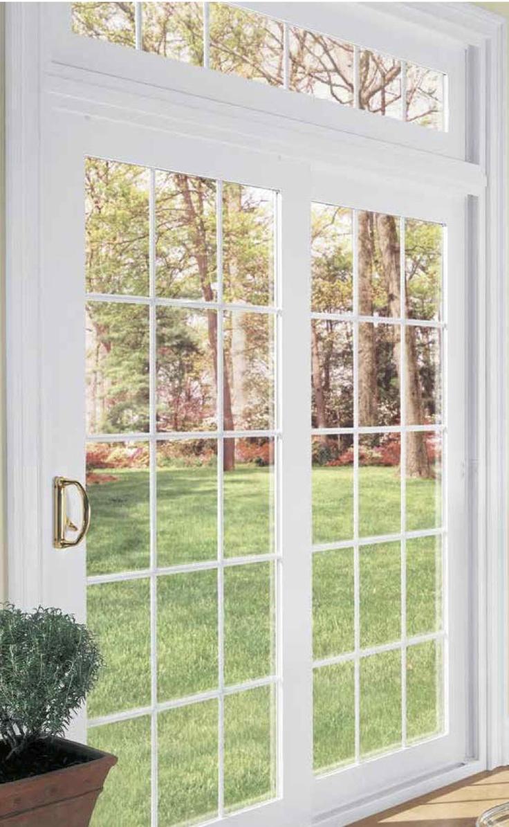 20 best vinyl patio doors milwaukee images on pinterest for Sliding glass doors that look like french doors