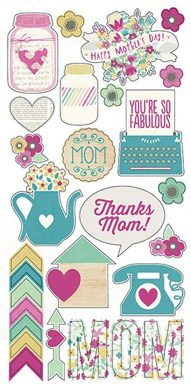Simple Stories - Hey Mom Collection - Simple Sets - Cardstock Stickers - Fundamentals at Scrapbook.com