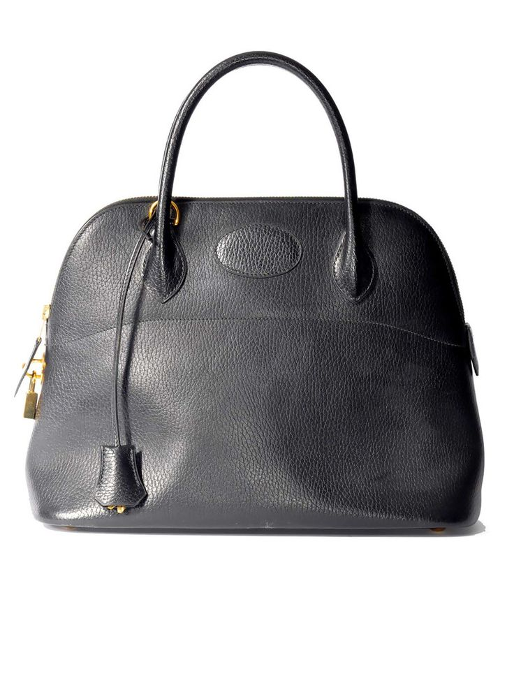 Hermès | Leather Bolide Bag in black www.sabrinascloset.com