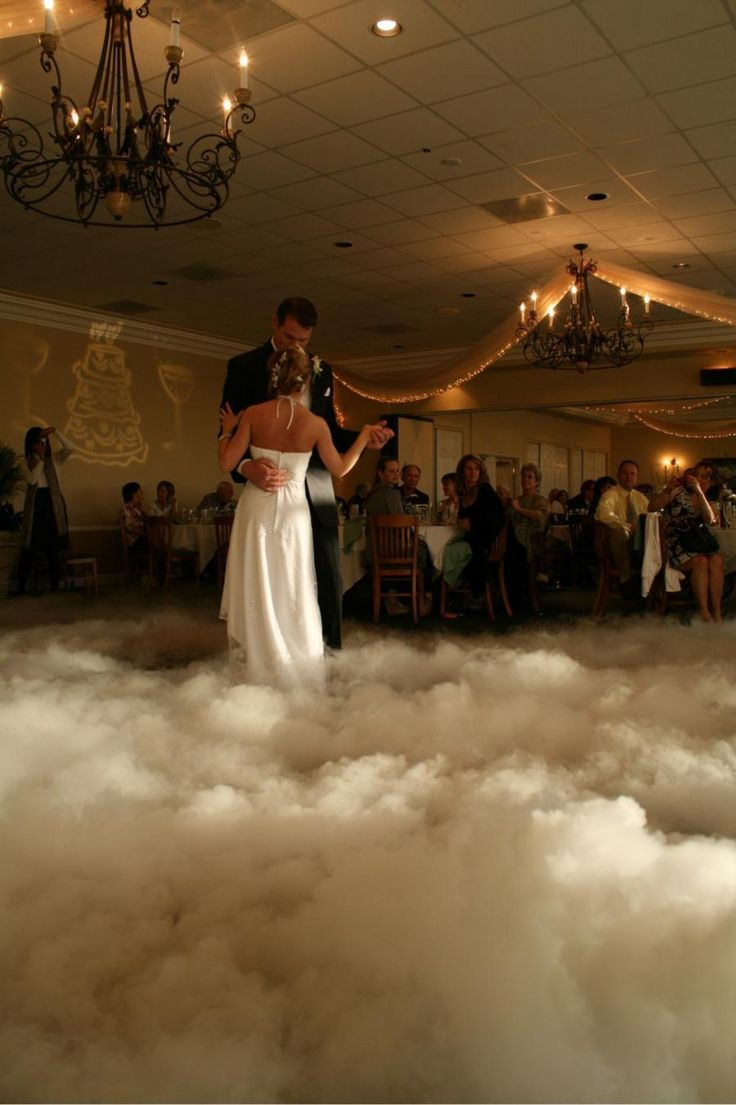 "Add that extra romantic feel with this Dancing on a Cloud affect for your first dance. Companies such as ourselves can provide this extra ""WOW"" factor.  illuminatingmagic.com"